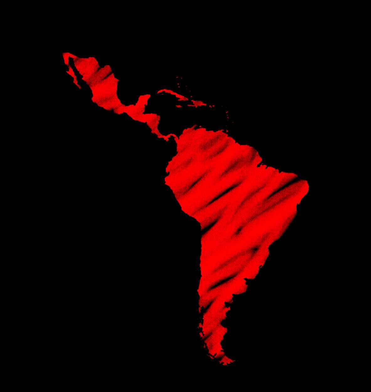 America Latina Cartografia - Ilustrador Héctor Mateo