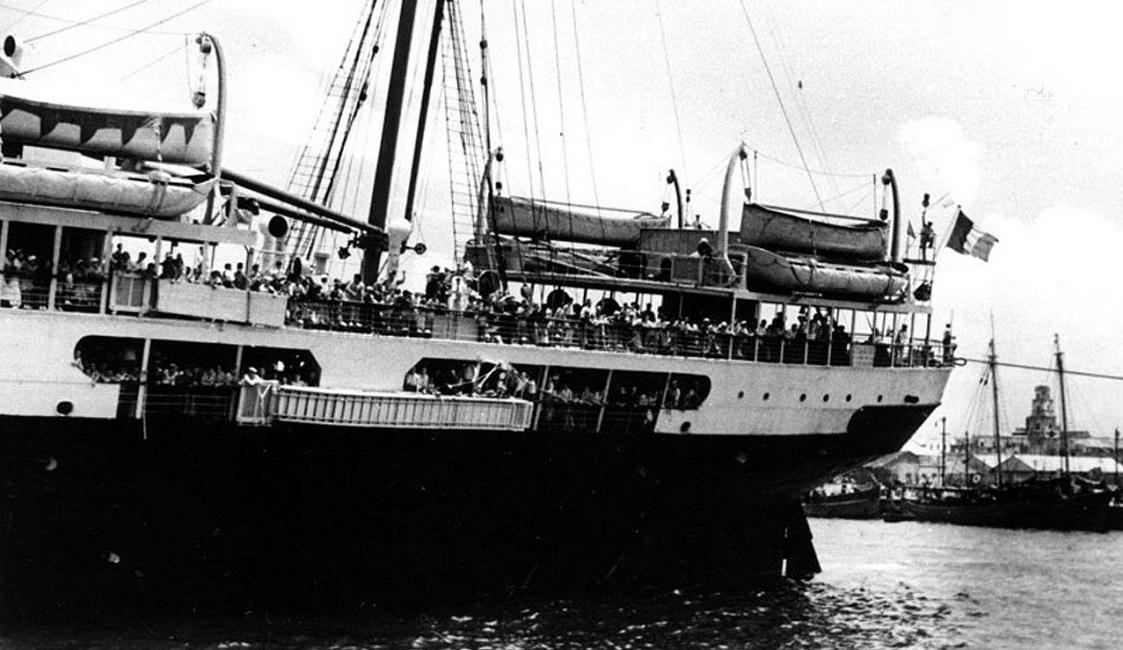 Barco Sinai, 13 de junio de 1939. Fuente: http://almomento.mx